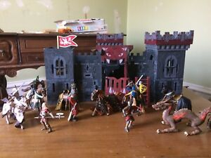 Toy Wood Castle with Knights
