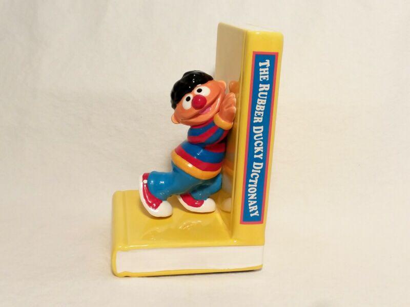 Vintage Rare Ernie Sesame Street 1993 Enesco Ceramic Bookend