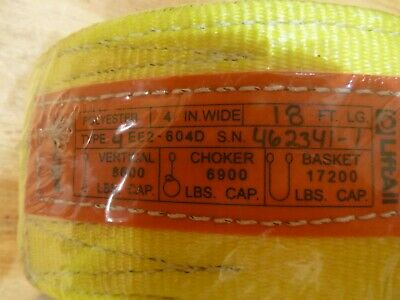 Liftall Ee2604dtx18 Polyester Web Sling 2-ply Twisted Eye 4 X 18 Feet