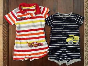 12 month One piece boys summer romper outfits