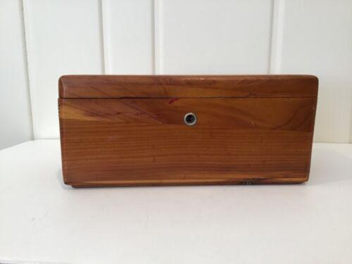 Vintage Lane Cedar Chest Miniature Salesman Sample * Wood Trinket Storage Box