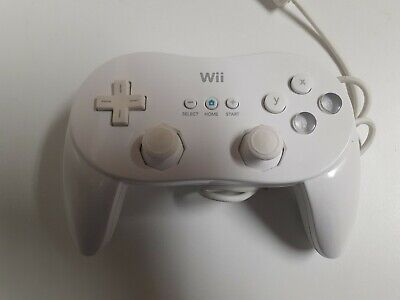 Official Genuine Nintendo Wii White Classic Pro Controller OEM - Free Ship