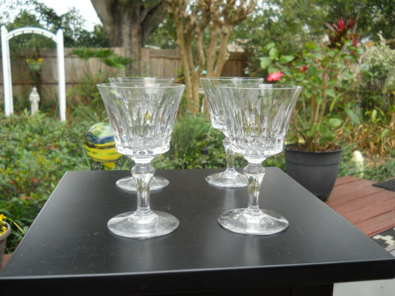 4 Baccaract Piccadilly wine glasses 5""