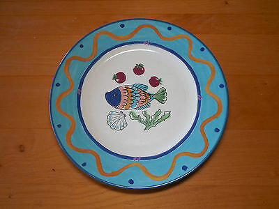 Mikasa Fashion Plate OCEAN COLLAGE DX102 Set of 3 Dinner Plates 10 7/8