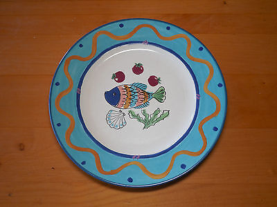 "Mikasa Fashion Plate OCEAN COLLAGE DX102 Set of 4 Dinner Plates 10 7/8"" A"