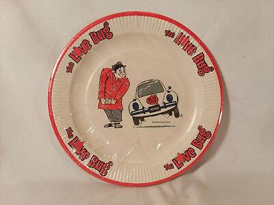Vintage 1968 Walt Disney THE LOVE BUG birthday party (8) paper plates Herbie VW (Vintage Paper Plates)