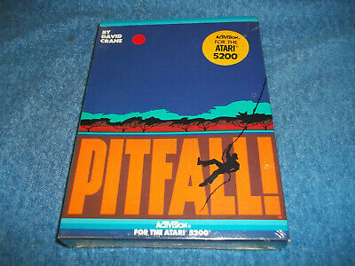 NEW ( NOS ) IN FACTORY SEALED & S/W BOX ATARI 5200 PITFALL GAME BY ACTIVISION