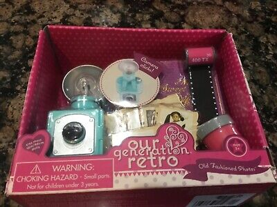 """New Our Generation Retro Old Fashioned Photos Camera For 18"""" Doll Girl"""
