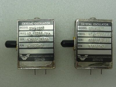 Lot Of 2 Vectron Model 254-2357 Crystal Oscillators Pn 129235-3 47.47799 Mhz