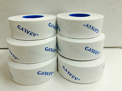 Genuine Garvey Labels For Price Gun 22-6 22-7 22-8 White 6 Rolls 1 Ink Roll