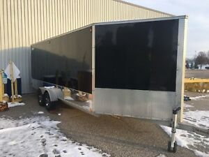 TRITON 24' ALUMINUM 3 SLED DRIVE IN DRIVE OUT SNOWMOBILE TRAILER
