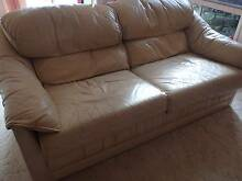 2 Seater leather sofa / lounge. From 'Moran' furniture. Paradise Point Gold Coast North Preview