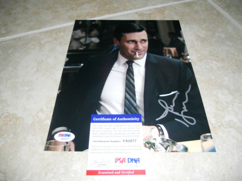 Jon Hamm Mad Men Rare Signed 8x10 Movie Autographed Photo #2 PSA Certified