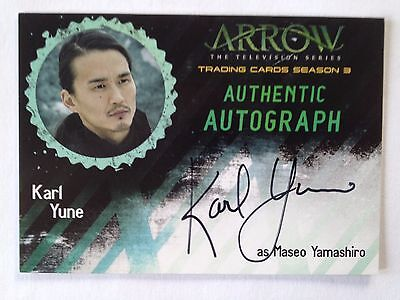 ARROW - Karl Yune as MASEO YAMASHIRO - Autogramm Karte / Autograph Card