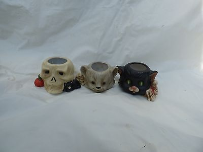 HALLOWEEN CAT SKELETON WOLF HEAD CONTAINERS SET OF THREE](Three Headed Wolf)