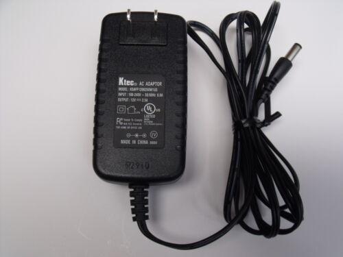 OEM Ktec KSAFF1200250W1US AC ADAPTER POWER SUPPLY 12 V 2.5 A