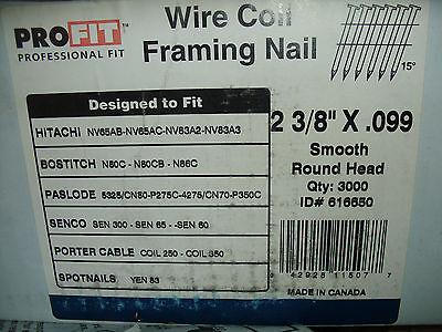 Profit Framing Nailer Nail 2 38 X .099 Hitachi Bostitch Senco Paslode Spotnail