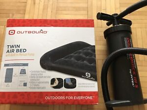 New Outbound Twin Air Bed And Pump