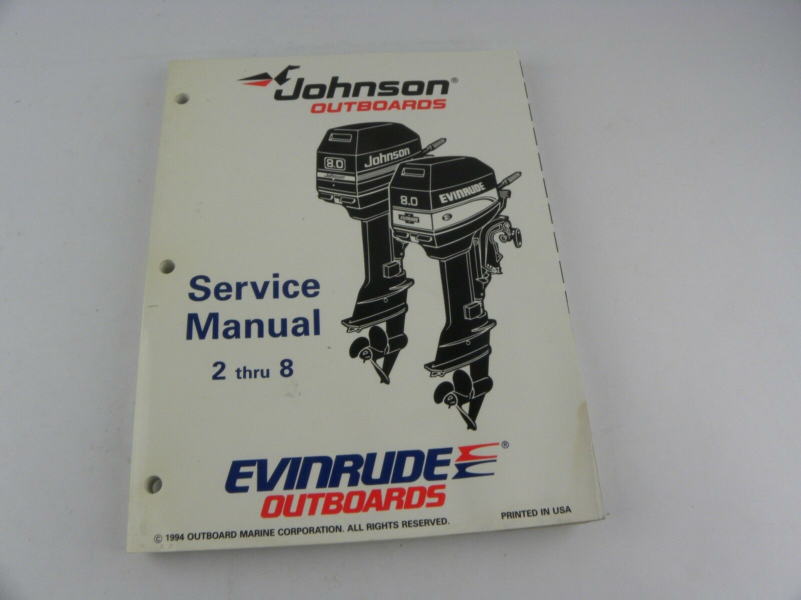 Johnson Outboards EO Service Manual 2 thru 8. Part 503145.