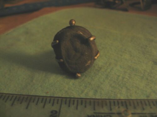 Ancient 2 cm Royal Seal set in Brutalist Ring Size 7 1/2 (US)