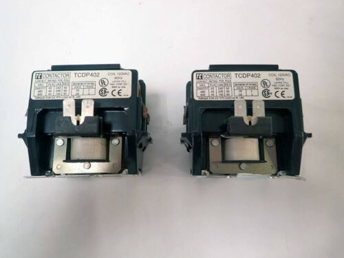LOT OF 2 SHAMROCK TCDP402, COIL 120VAC 60Hz CONTACTOR, 600V MAX, TESTED WORKING!