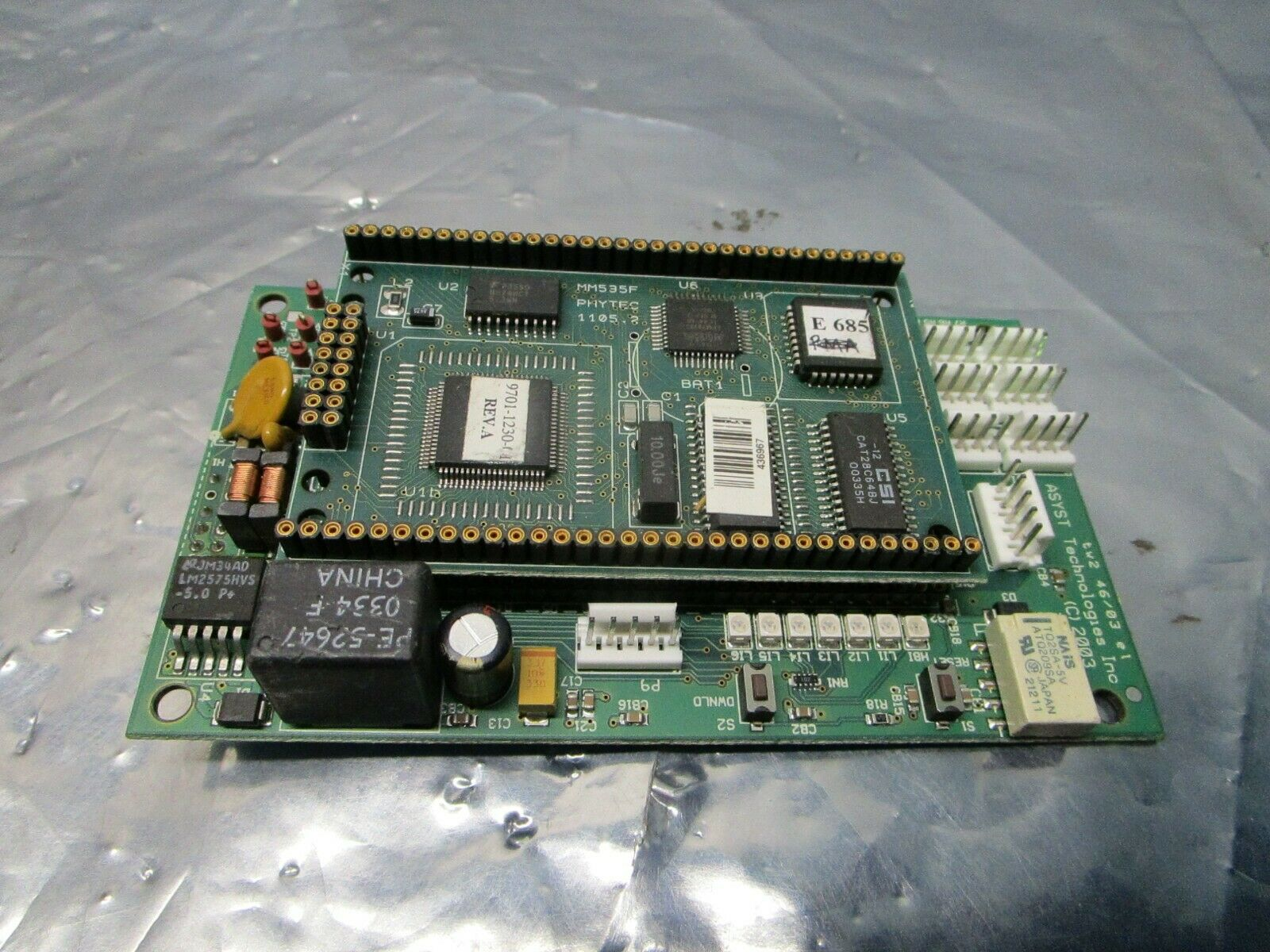 Asyst 3200-1198-01 PCB w/ MM535F PHYTEC 1105.2 Daughter Board, 101217
