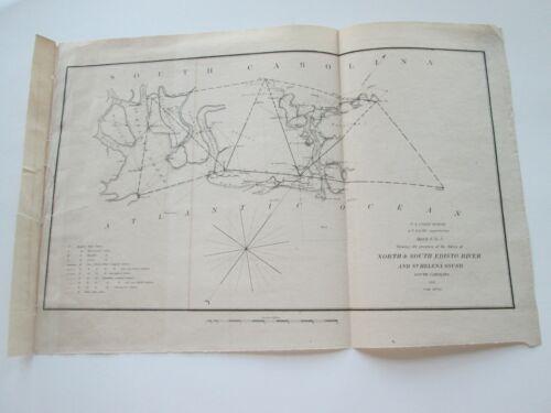 ONE (1) 1851 COAST SURVEY, NORTH & SOUTH EDISTO RIVER AND ST. HELENA SOUND