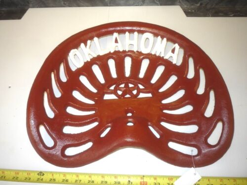 CAST IRON OLD FARM  MACHINE TYPE BAR STOOL GARDEN SEAT  OKLAHOMA