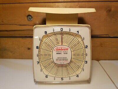 Vintage Sunbeam Postal Scale 1512 10 Lb. Capacity Made In Usa - Swanky Barn