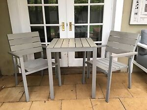 Light Grey outside table & chairs North Narrabeen Pittwater Area Preview