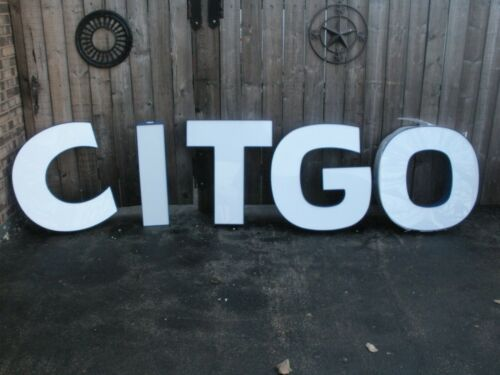 """CITGO LED LIGHTED LETTERS 28"""" ==NEVER USED==="""