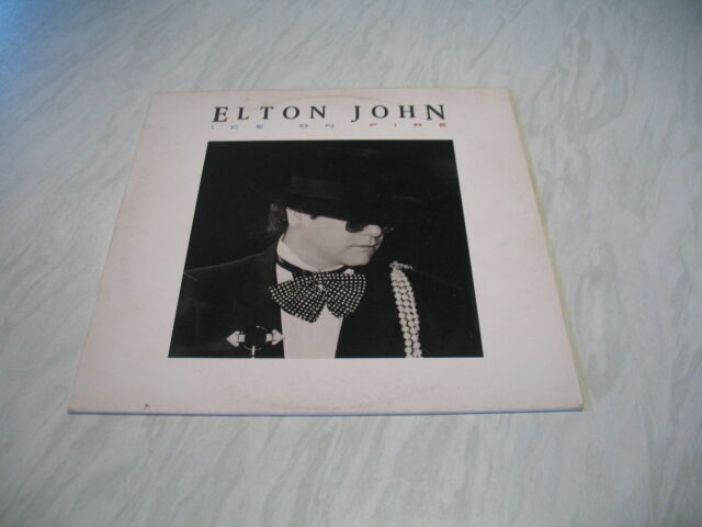 LP - Elton John - Ice on Fire album vinyl record Rocket 1985
