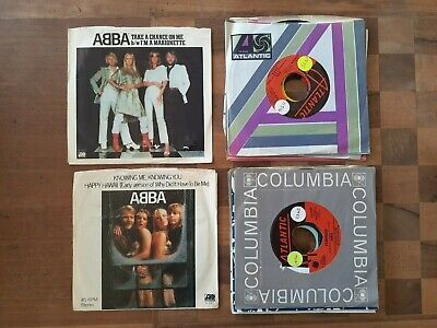 Lot of 14 Vinyl Records, 45RPM, Abba, 2 Picture Sleeves