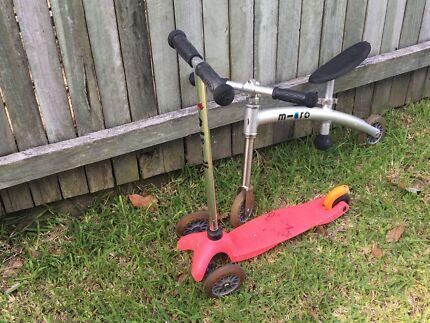 Micro scooter and balance bike