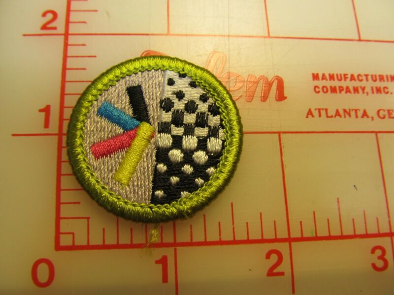 GRAPHIC ARTS merit badge plastic backed patch (oP)