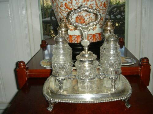 English Sterling Silver Georgian Cruet Set Thomas Settle & Robert Hennell 1814