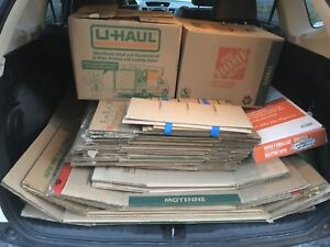 Moving Boxes. 5 Large, 4 Medium, 23 Small + Packing Paper