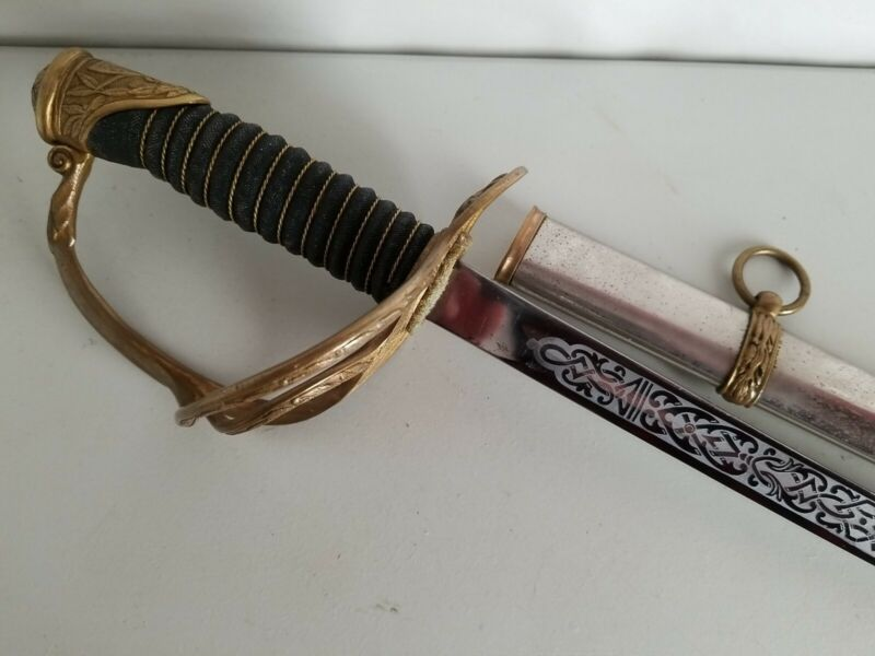 Model 1872 Cavalry Sword Saber w/Scabbard - Etched Blade