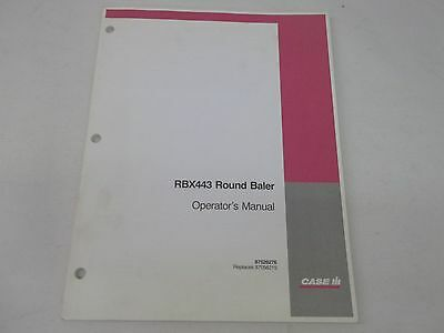 Case Ih Rbx443 Round Baler Operators Manual