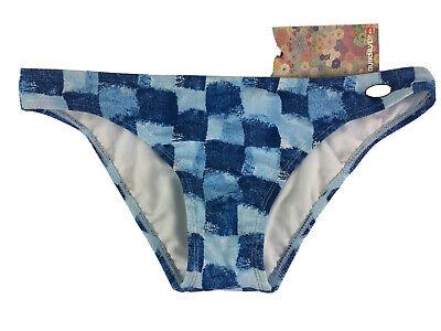 QUIKSILVER Hipster Bikini Bottoms XS (UK 8) BLUE RRP £45 BNWT