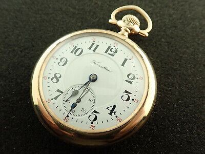 16 SIZE HAMILTON RAILROAD POCKET WATCH GRADE 992 - KEEPING TIME - FROM 1922