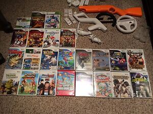 Selling Nintendo wii with 23 games and accessories