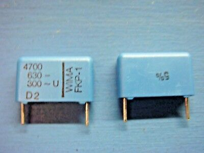10 Wima Fkp-1 47006305 4700pf .0047uf 630v 5 15mm Film Capacitor