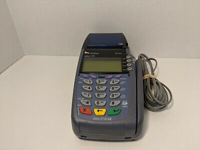 Verifone Vx510 Omni 3730 Le Creditdebit Card Machine W Analog Cable Used
