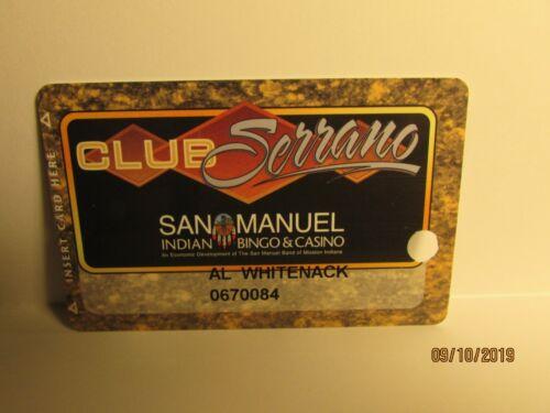 San Manuel Casino -Casino Players Card- San Bernardino,Ca. - new