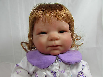 "Retired Sculpt BERENGUER 21"" Vinyl & Cloth REBORN BABY Doll w Red Hair - So Cute"