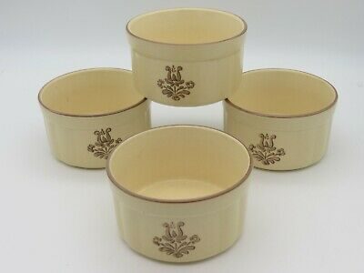 Lot of 4 Pfaltzgraff Village Individual Ramekin Dip Onion Soup Crock Baker -
