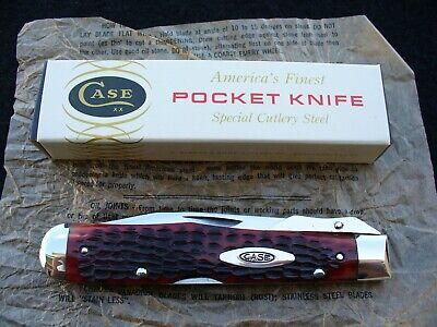 Vintage Case USA 6111 1/2 L Pretty Reddish Bone Cheetah Knife '65-'69 NM w/Box