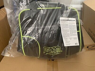 New Storm 1 Ball Solo Tote. Black/Grey/Lime