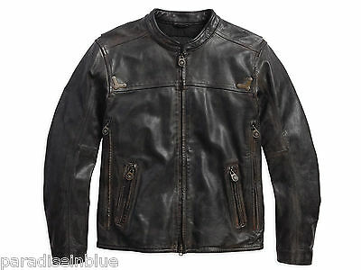 Harley Davidson Mens Willie G Limited Brown Leather Jacket 97097-16VM M L XL 2XL